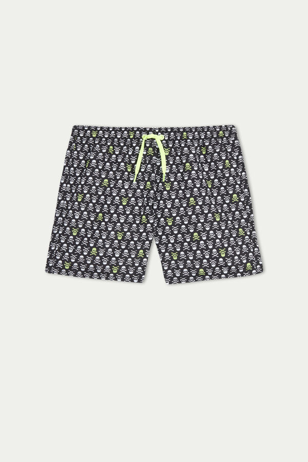 Boy's Printed Swimming Trunks