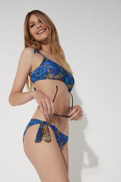 Bikinihose mit Schleifen Tropical Animalier