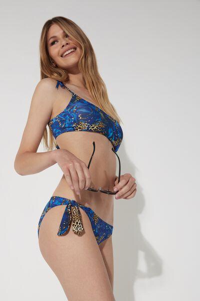 Animal Tropical Bow Brief Bikini
