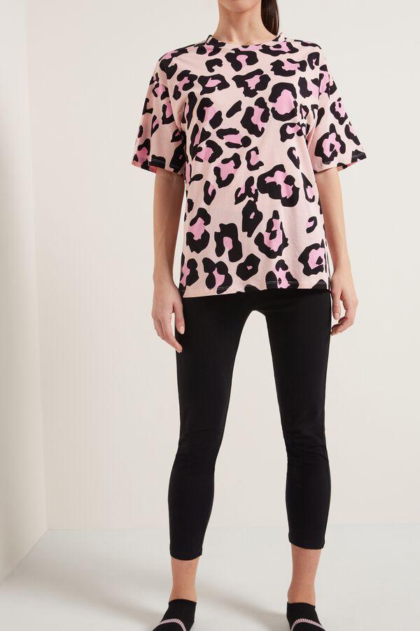 Leopard Print Cotton Pajamas