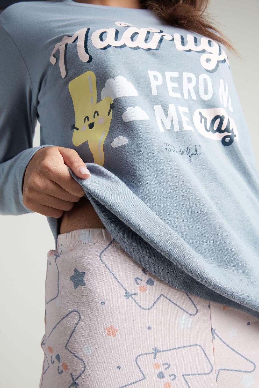 "Pijama Largo de Algodón Mr. Wonderful ""Happy lightning"""