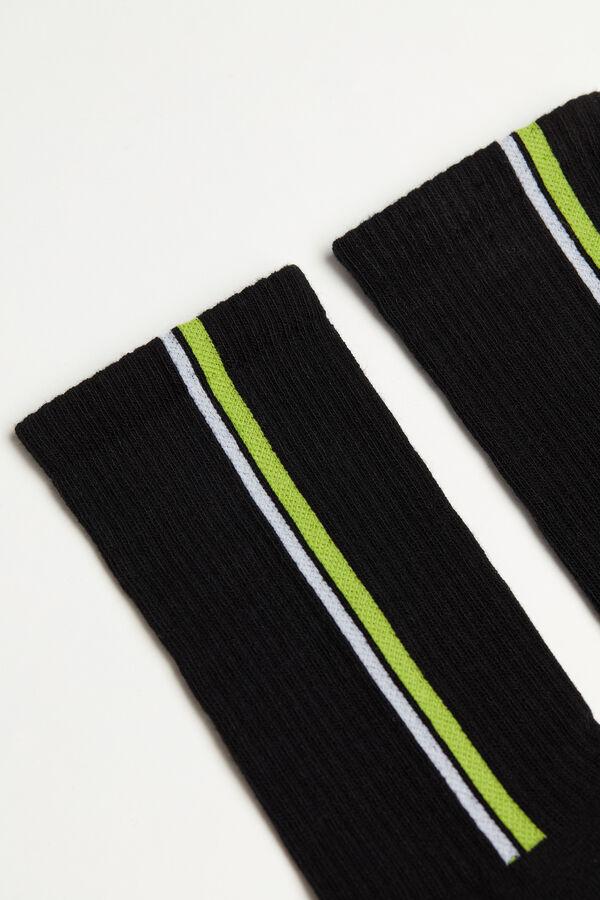 Bavlnené Športové Vzorované Ponožky