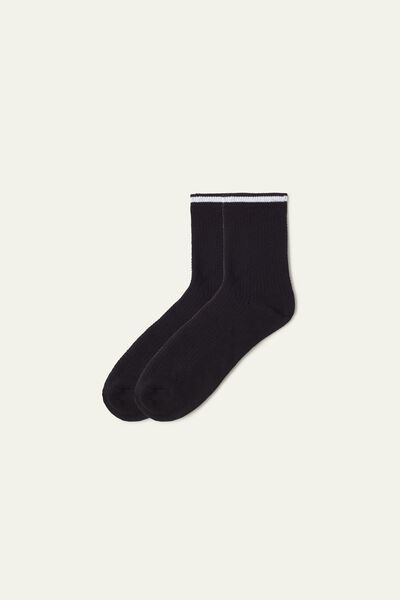 Patterned Cotton Crew Socks