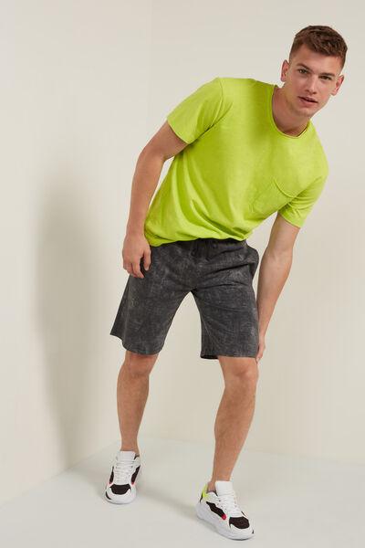 Pantaloni scurți din jerse din bumbac