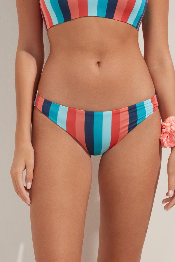 Colourful Striped Brazilian Bikini Bottoms