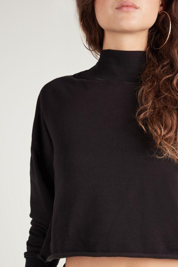 Short Polo Neck Sweatshirt