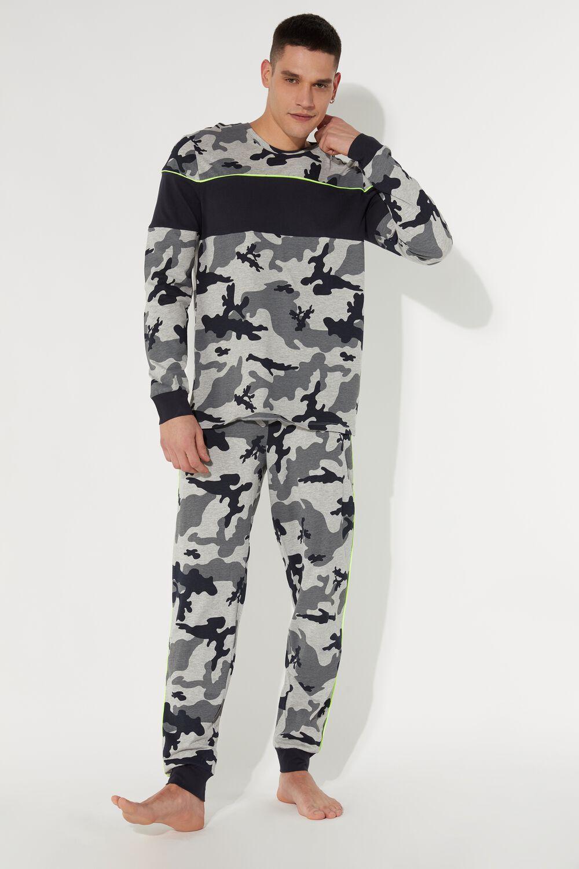 Men's Long Camo Print Pyjamas
