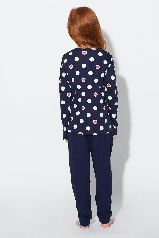 Long Polka Dot Heart Pyjamas