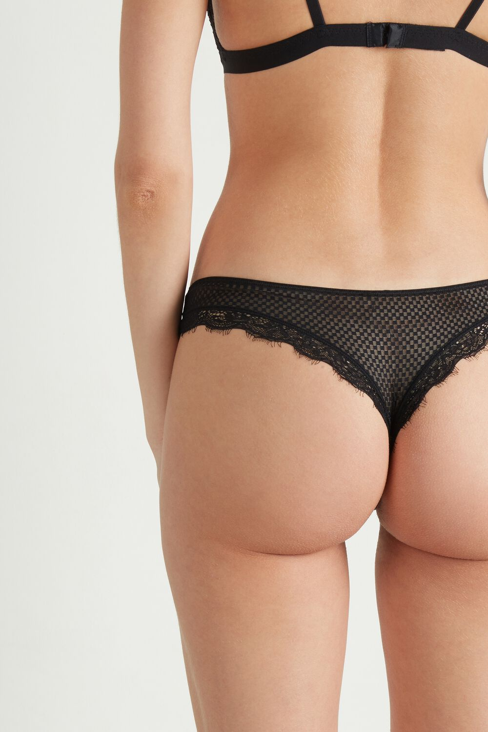 Check Mate Lace Brazilian Briefs