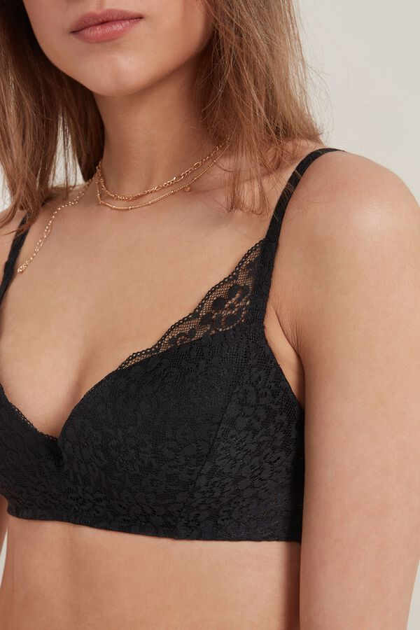 Rome Padded Push-Up Recycled Lace Bra
