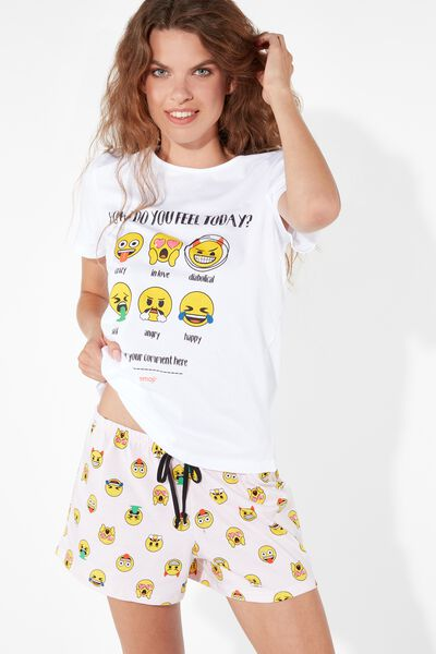 Pijama curto Laughing Emoji