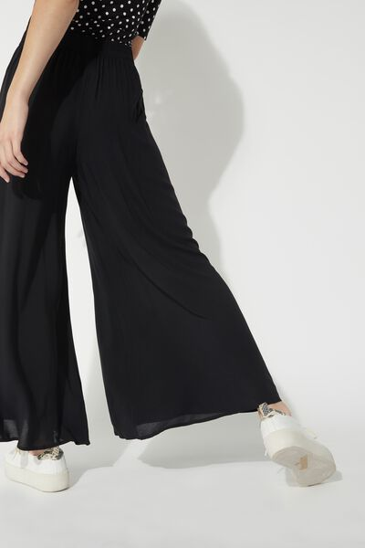 Cropped Lightweight Canvas Trousers