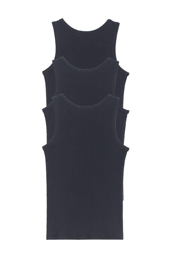 3 X Žebrované Tílko Multipack