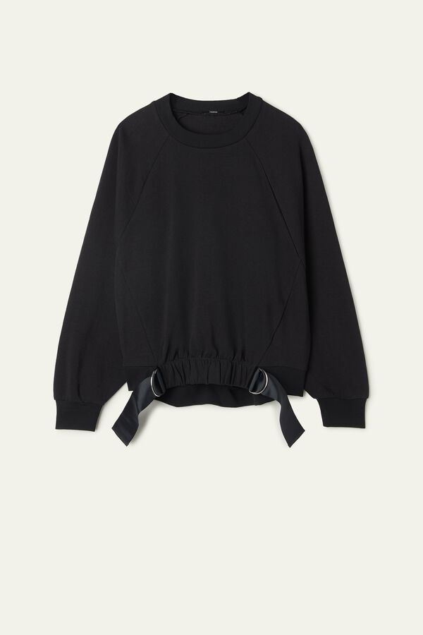 Short-Sleeve Sweatshirt with Detail