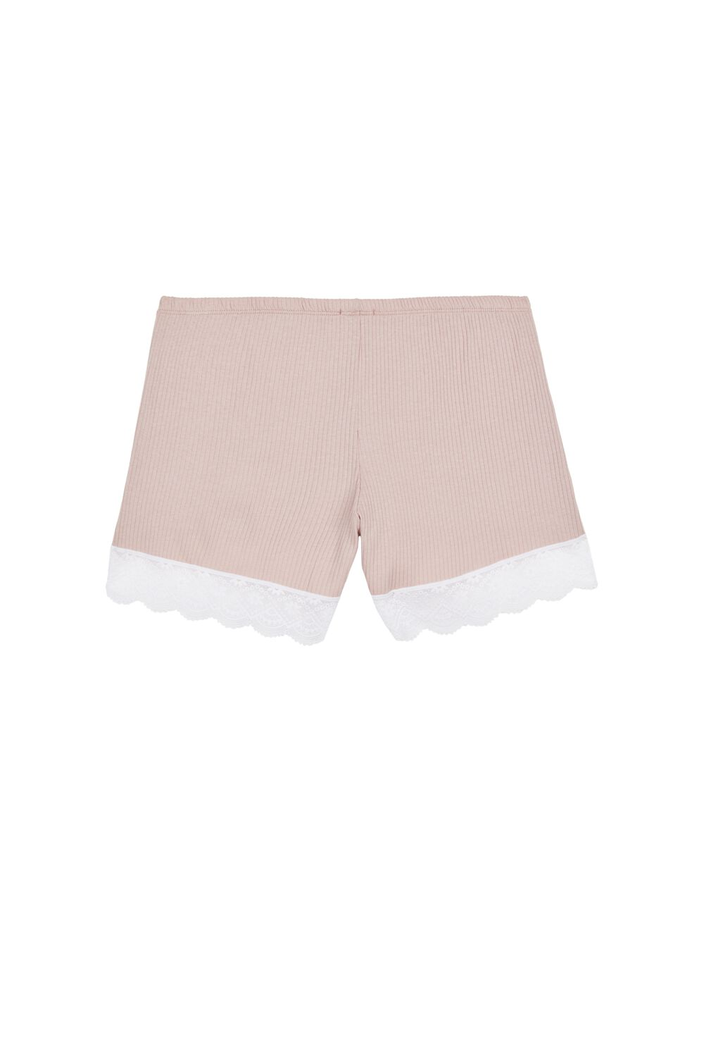 Ribbed Cotton and Lace shorts