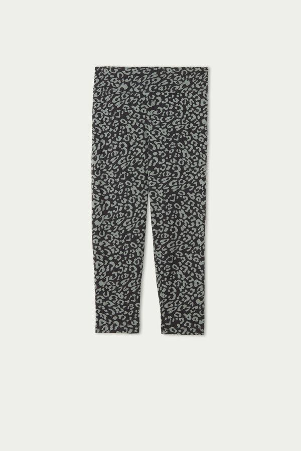 Printed Cotton Capri Leggings