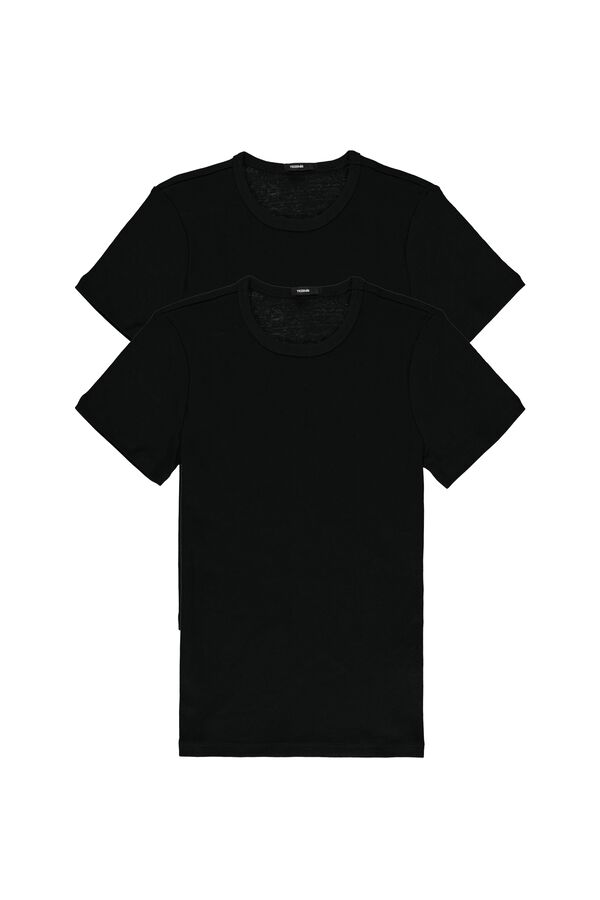2 X Ribbed Short-Sleeved Top Multipack