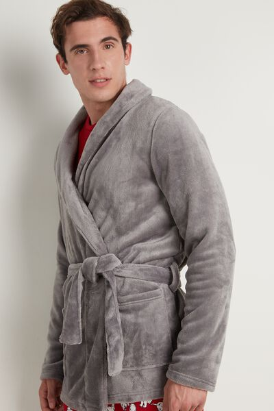 Mens Fleece Robe