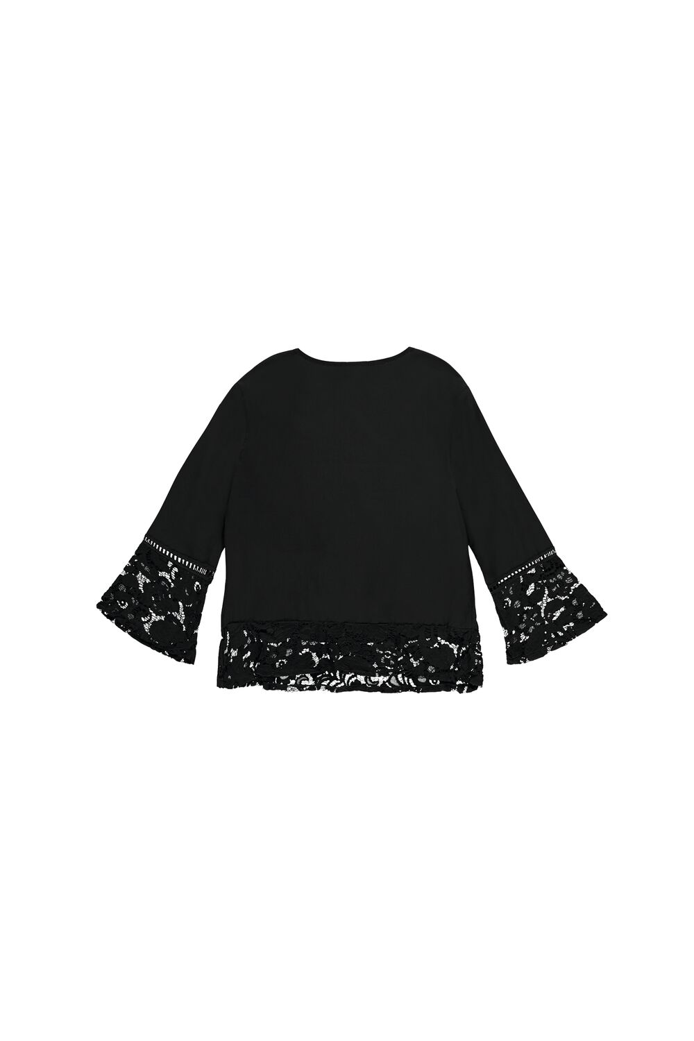 Long-Sleeve Top with Lace Details