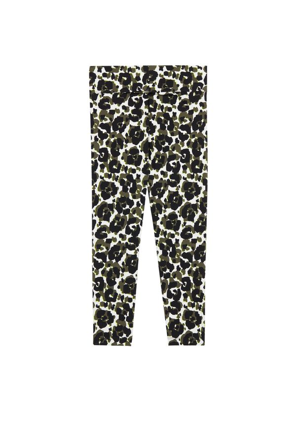 Printed Cotton Capri Leggings