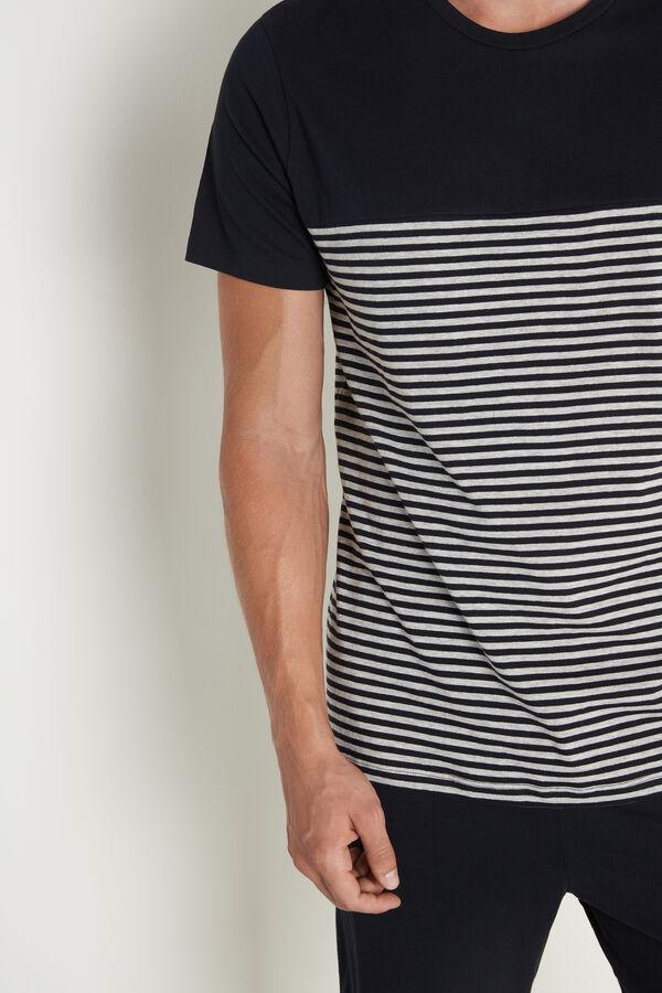 Kurzer Pyjama für Herren Basic mit Streifenprint