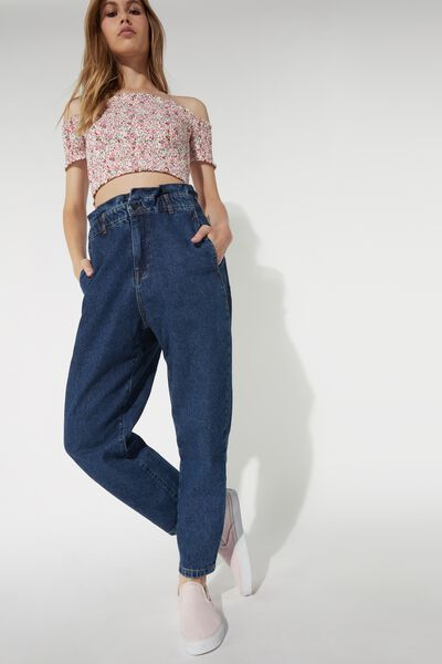 Pantalon Baggy en Denim