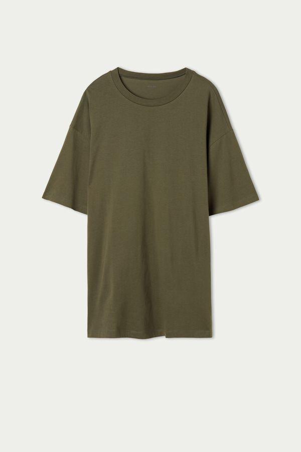 Langes Oversize-Shirt aus Baumwolle