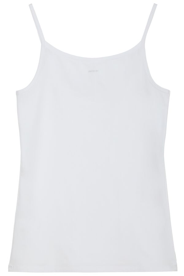Round-Neck Stretch Cotton Tank Top