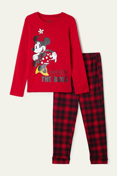 Girl's Minnie Long Cotton Pyjamas