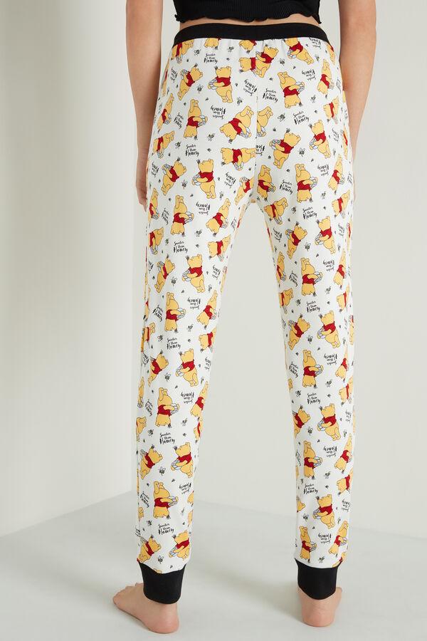 Pantalon en Coton avec Poches et Imprimé Winnie l'Ourson