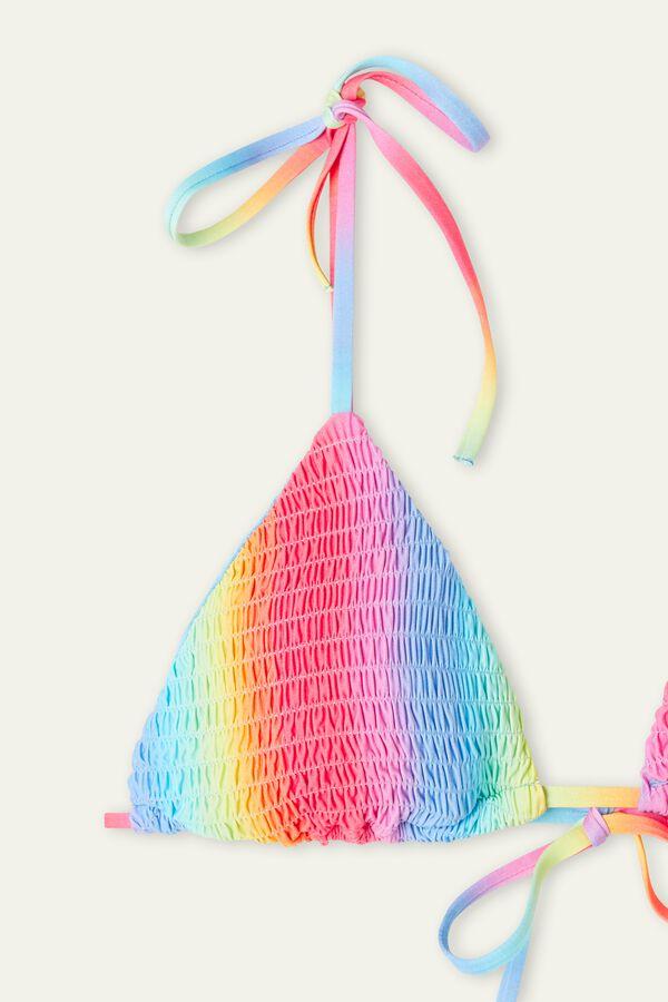 Biquíni Triângulo Ponto Smock Rainbow