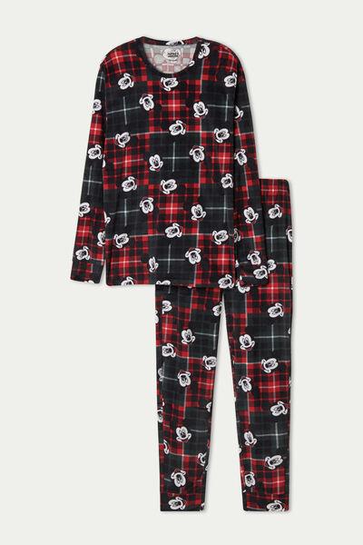 Langer Pyjama aus Mikrofleece Mickey Mouse