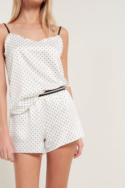 Micro Polka Dot Satin Shorts