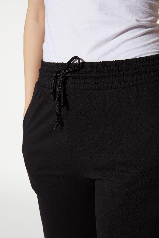 Jogging Pants with Welt Pocket and Drawstring