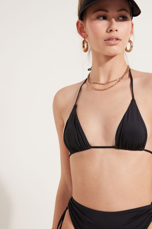 Triangle Bikini Top in Recycled Microfibre