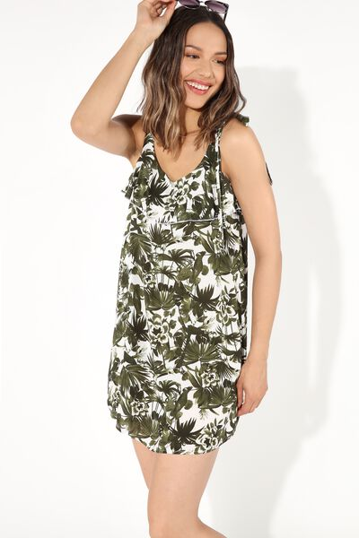 Short Viscose Sleeveless Dress