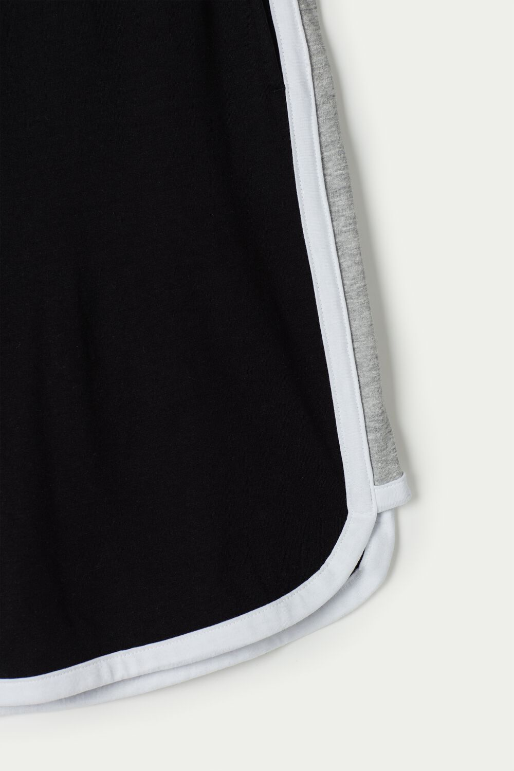 Cotton Jersey Shorts with Side Bands