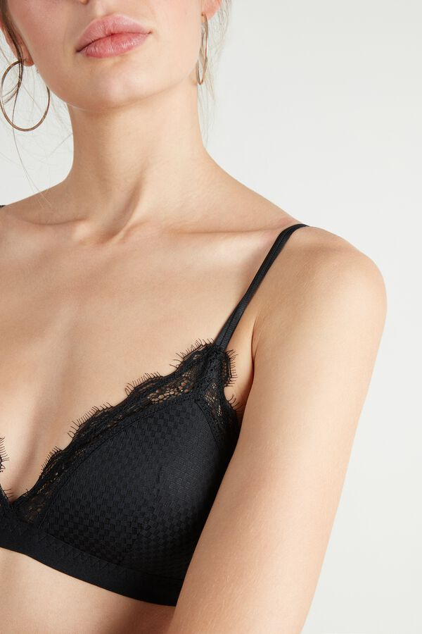 Check Mate Lace Triangle Bra