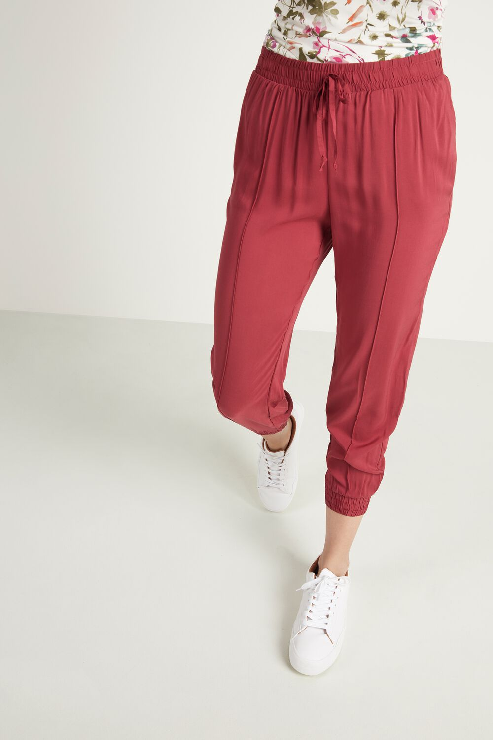 Fabric Jogger with Seam Detail