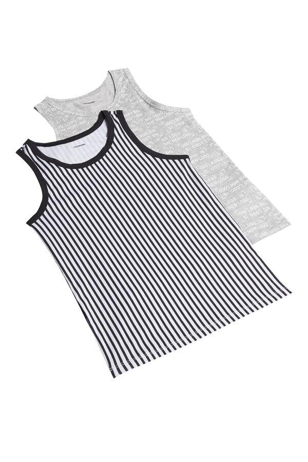 2 X Printed Vest Top Multipack
