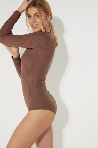 Long-Sleeved Viscose Body with Small Buttons
