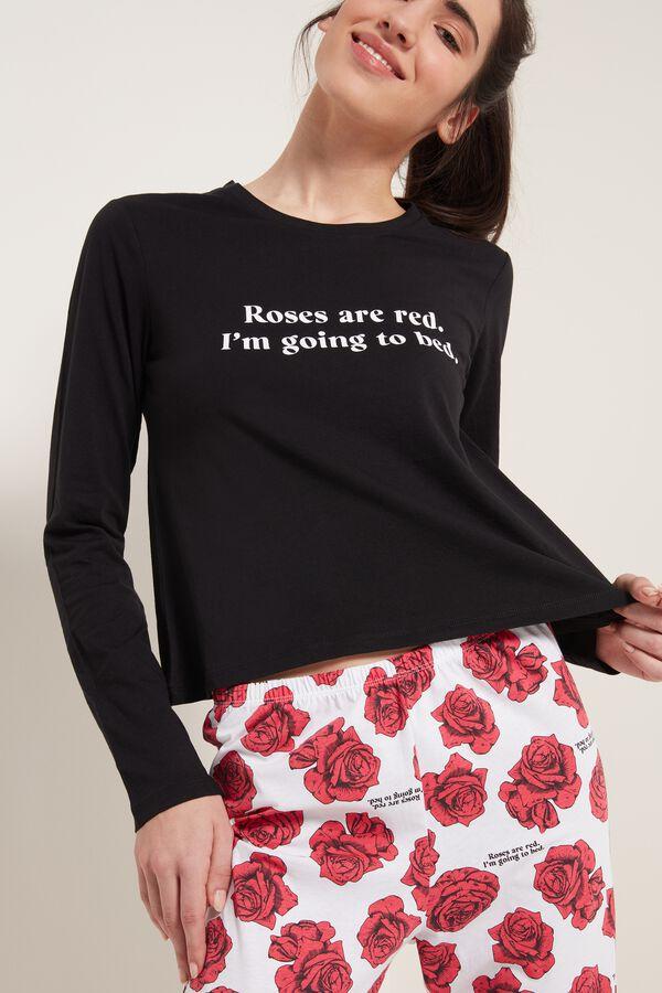 Cotton Rose Print Pajamas