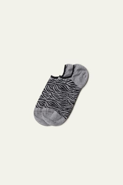 Patterned Super-Low Cotton Trainer Socks