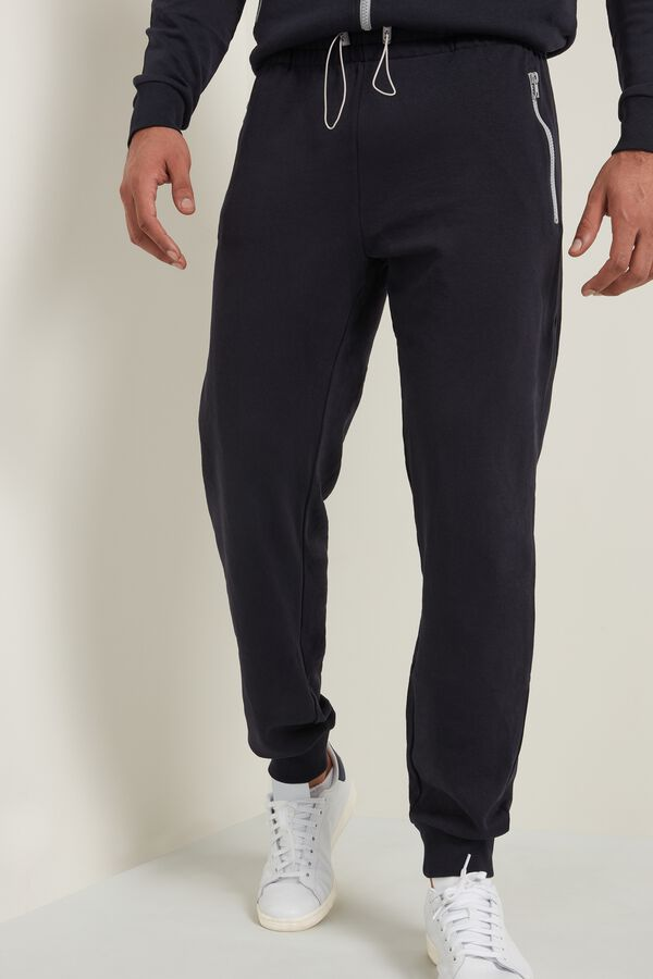 Tracksuit Bottoms with Contrasting Zips