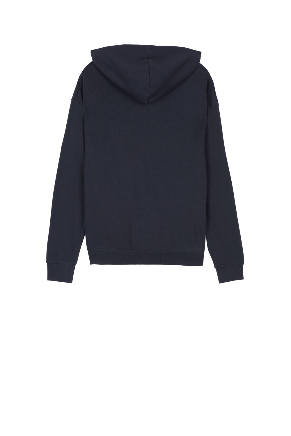 Sweatshirt with Hood and Zipper with Inserts