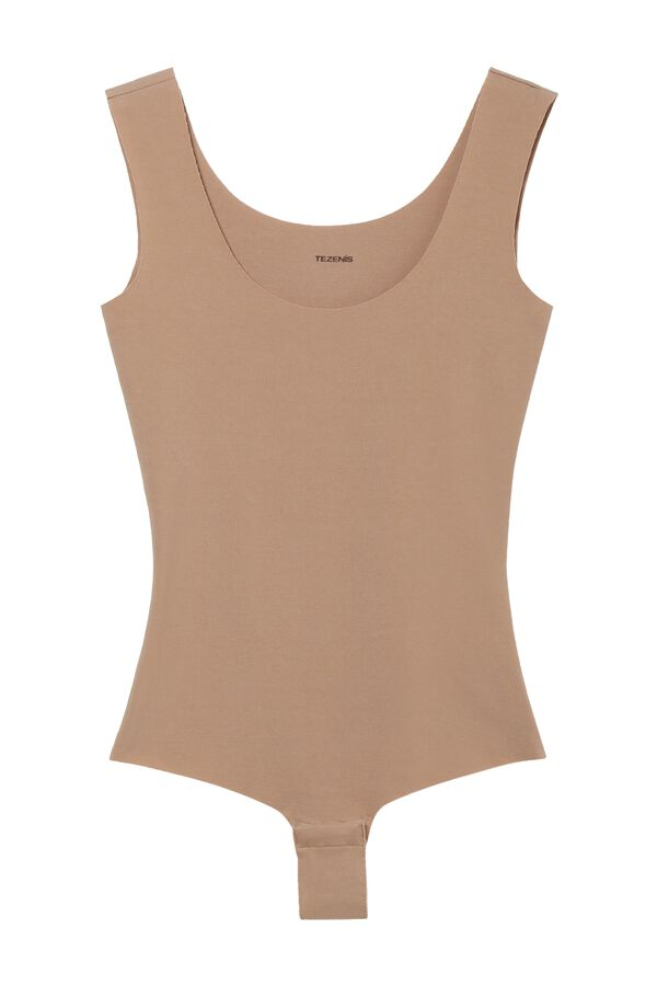 Laser-Cut Cotton Bodysuit