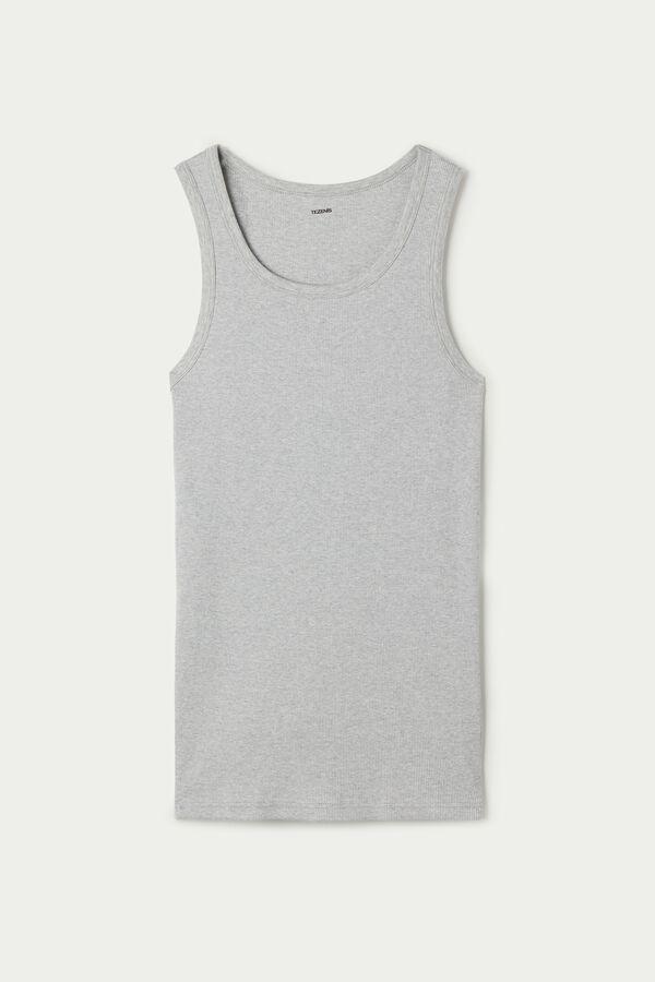 Ribbed Cotton Undershirt