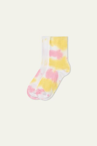 Patterned Cotton Crew Socks