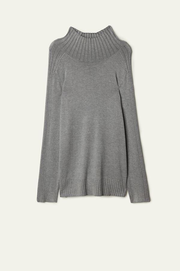 Long Sleeve Mock Turtleneck Top
