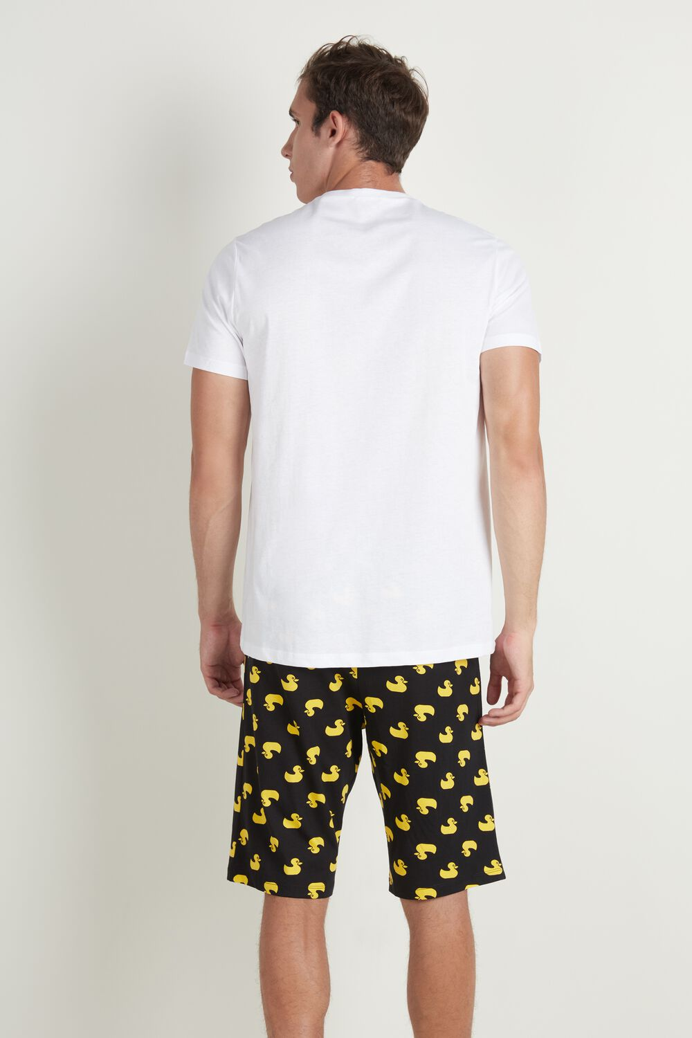 Men's Panda Print Short Pajamas